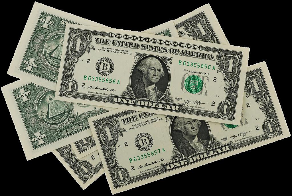Small stack of $1 bills